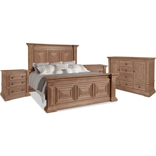 Frosti 6-Piece King Bedroom Package with 2 Nightstands
