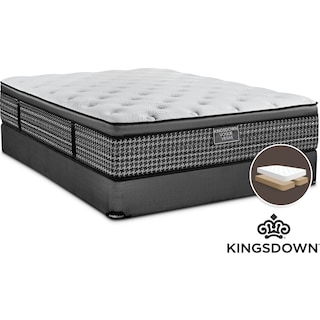 Kingsdown Maxence Cushion Firm King Mattress and Split Boxspring Set