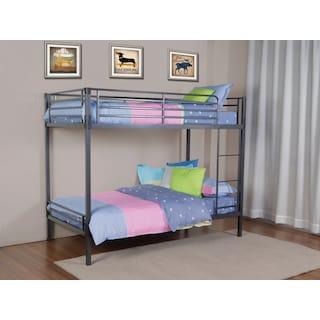 Morgan Twin Over Twin Bunk Bed - Grey