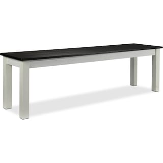 Atticus Bench - White and Dark Brown