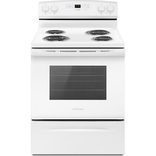 Amana White Freestanding Electric Range (4.8 Cu. Ft.) - YACR4503SFW