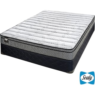 Sealy Rêve Cushion Firm Twin Mattress and Boxspring Set