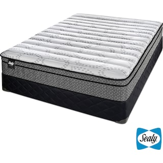 Sealy Luna Cushion Firm Twin Mattress and Boxspring Set
