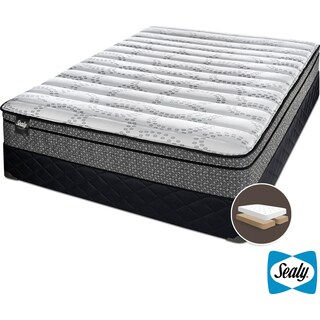 Sealy Luna Cushion Firm King Mattress and Split Boxspring Set
