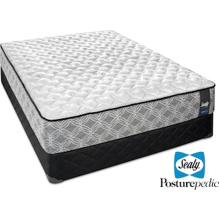 Sealy Enzo Hybrid Firm Queen Mattress and Boxspring Set