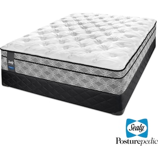 Sealy Océane Hybrid Firm Twin Mattress and Boxspring Set