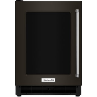 KitchenAid Black Stainless Steel Undercounter Refrigerator (5.1 Cu. Ft.) w/ Left Swing - KURL304EBS