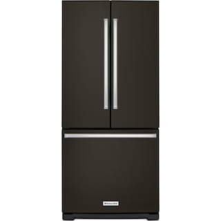 KitchenAid  Black Stainless Steel French Door Refrigerator (19.68 Cu. Ft.) - KRFF300EBS