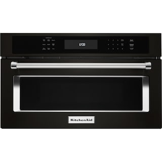 KitchenAid Black Stainless Steel Built-In Microwave (1.4 Cu. Ft.) - KMBP107EBS