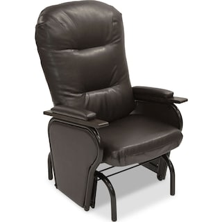 Clemence Bonded Leather Glider Chair – Brown