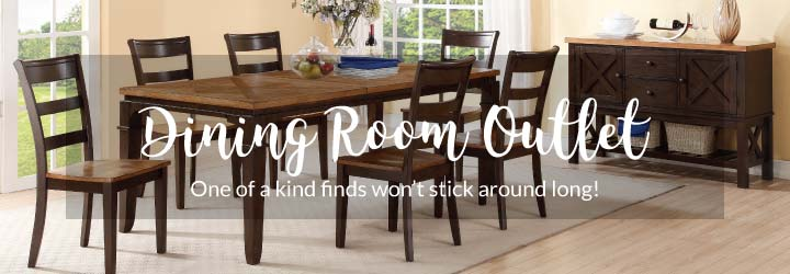outlet items do not qualify for any further discounts or long term promotional financing offers - Dining Room Items