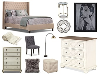 madrid queen headboard taupe