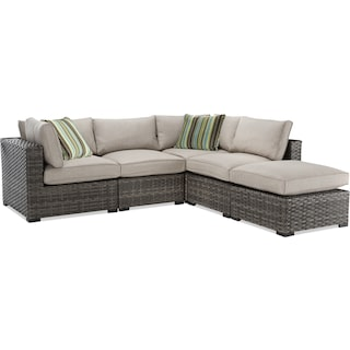 Maëlle 5-Piece Outdoor Modular Sectional - Beige