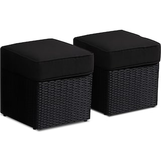 Imperial Beach Ottomans (Set of 2)