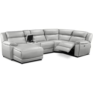 Southminster 5-Piece Sectional with Left-Facing Chaise - Grey