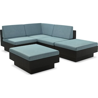 Parkview 5-Piece Patio Sectional Set – Blue