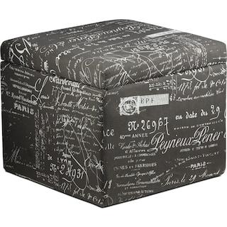 Ellison Small Storage Ottoman - Scroll Grey