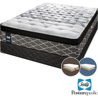 Sealy Sleep Haven Hybrid Firm King Mattress and Split Low-Profile Boxspring Set
