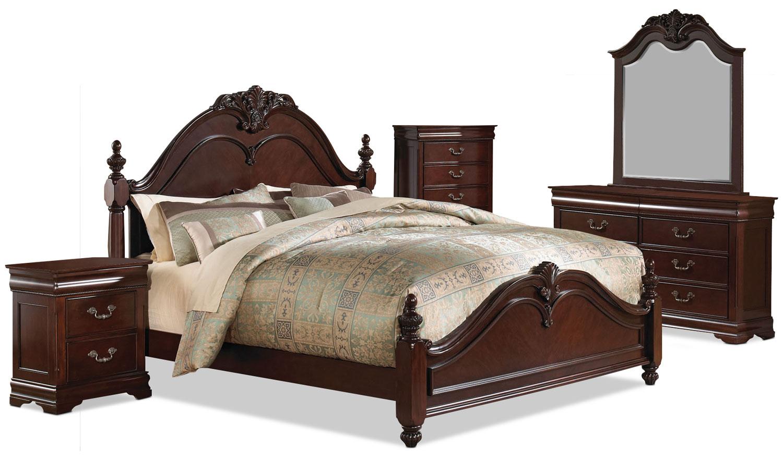 Bedroom Furniture - Abbeydale 7-Piece Queen Bedroom Package