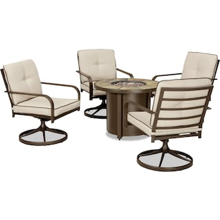 Pinciotti 5-Piece Patio Set with Fire Table