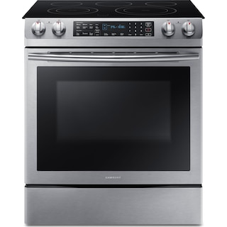 Samsung Stainless Steel Slide-In Electric Convection Range (5.8 Cu.Ft. IEC) - NE58M9430SS/AC