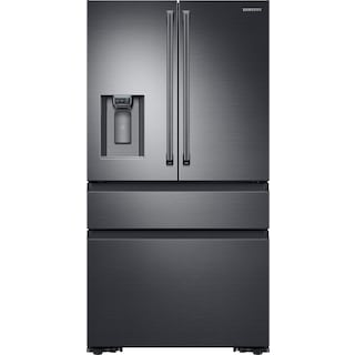 Samsung Black Stainless Steel Counter-Depth, 4-Door Refrigerator (23 Cu. Ft.) - RF23M8090SG/AA