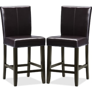 Wigan Brown Counter-Height Chairs  (Set of 2)
