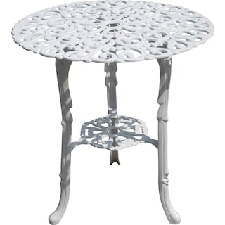 Jour Round Outdoor Bistro Table - White