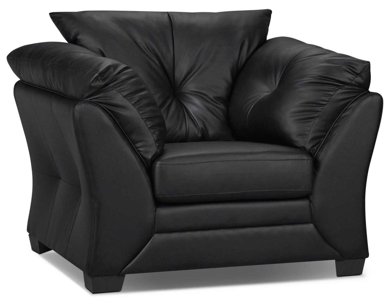 Living Room Furniture - Mitcham Black Chair