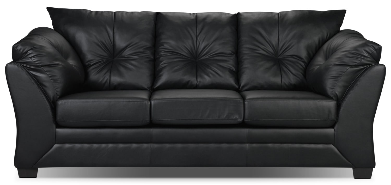 Living Room Furniture - Mitcham Black Sofa