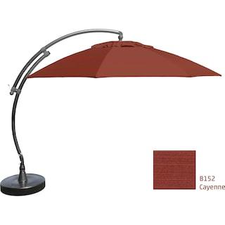 Lantier 13' Curve Parasol - Cayenne Red / Grey