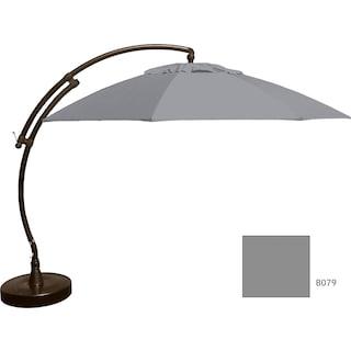 Lantier 13' Curve Parasol - Grey / Antique Bronze