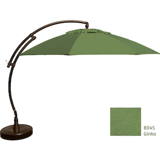Lantier 13' Curve Parasol - Ginkgo Green / Antique Bronze
