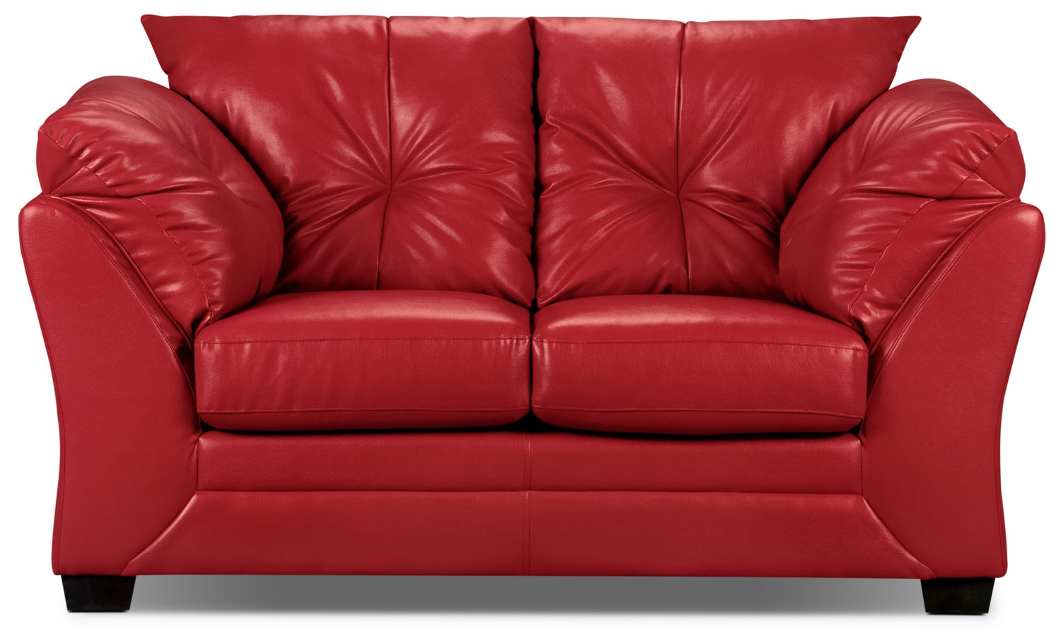 Living Room Furniture - Mitcham Red Loveseat