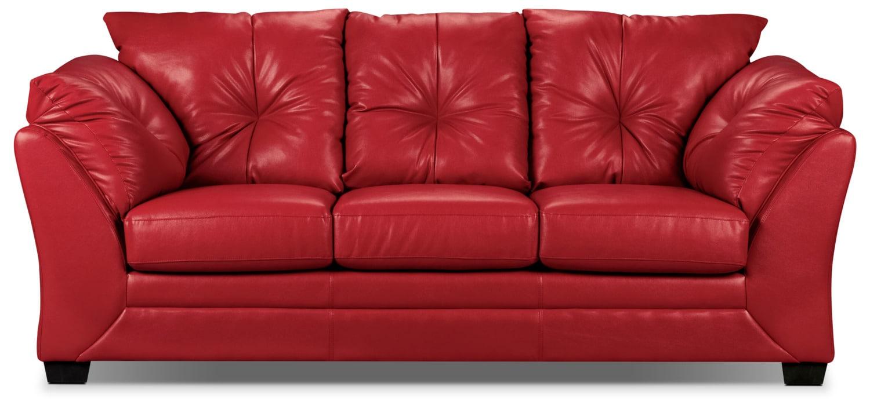 Living Room Furniture - Mitcham Red Sofa