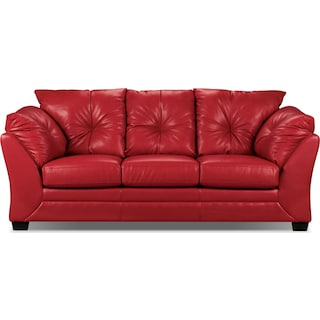 Mitcham Red Sofa Bed
