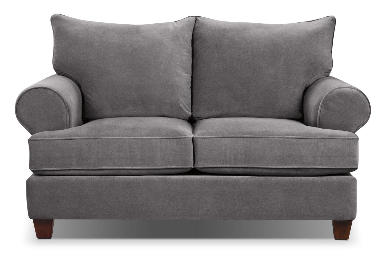 Living Room Furniture - Prescot Loveseat - Grey