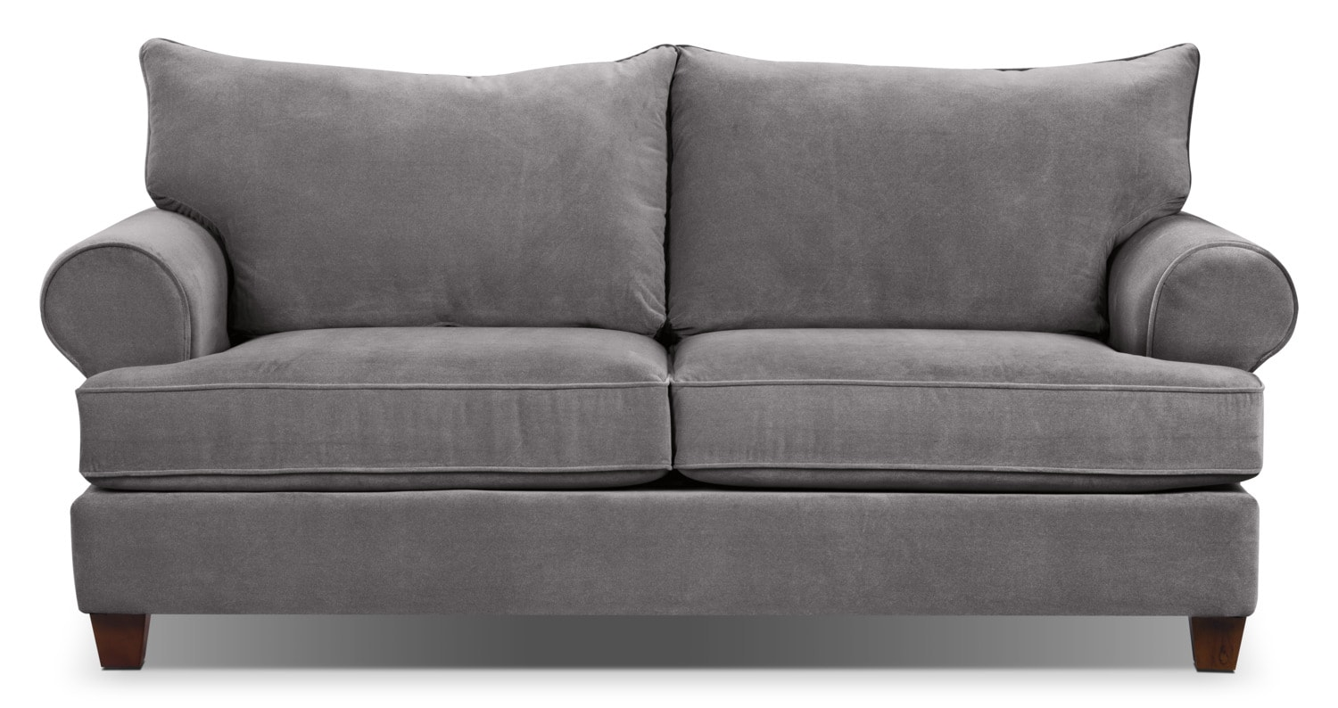 Living Room Furniture - Prescot Sofa - Grey