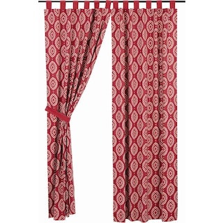 Margot Crimson Tab Top Panel Lined - Set of 2
