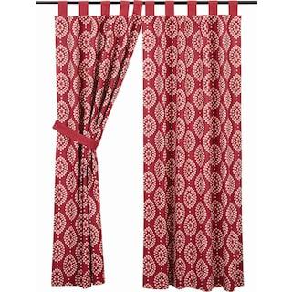 Margot Crimson Tab Top Short Panel Lined - Set of 2