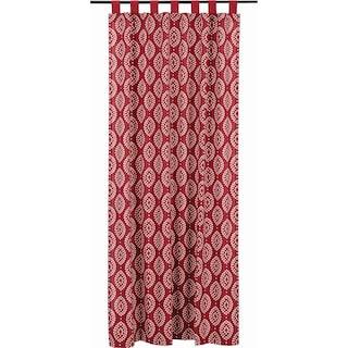 Margot Crimson Tab Top Panel - 84 x 50