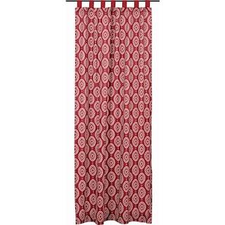 Margot Crimson Tab Top Panel - 96 x 50