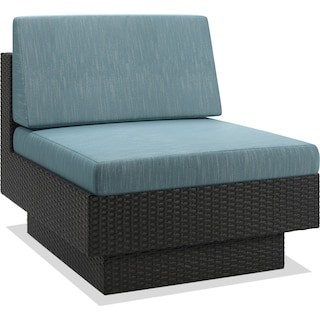 Parkview Patio Armless Chair – Blue