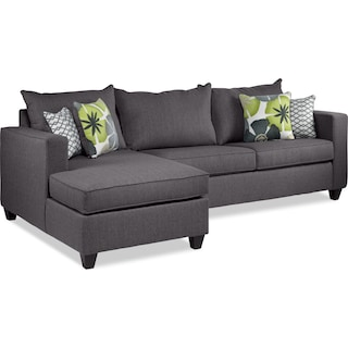 Patricia 2-Piece Full Sofa Bed Sectional with Left-Facing Chaise - Slate