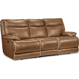Oranmore Power Reclining Sofa - Caramel