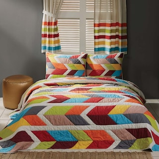 Mehdi Queen Set - 1 Quilt & 2 Shams