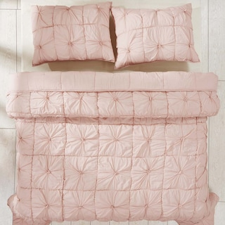 Emeline Blush Pink Queen Set -  1 Quilt & 2 Shams