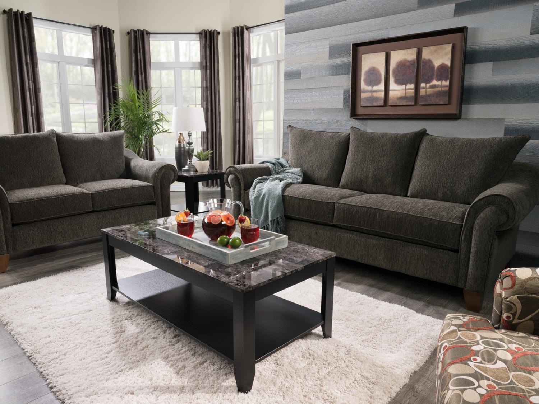 Rochester dark grey sofa - Living room furniture rochester ny ...