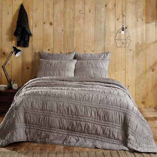 Valentine Urban Grey Lux King Set - 1 Quilt & 2 Shams