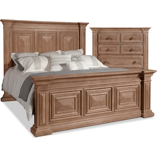 Frosti 4-Piece King Bed and Chest Package